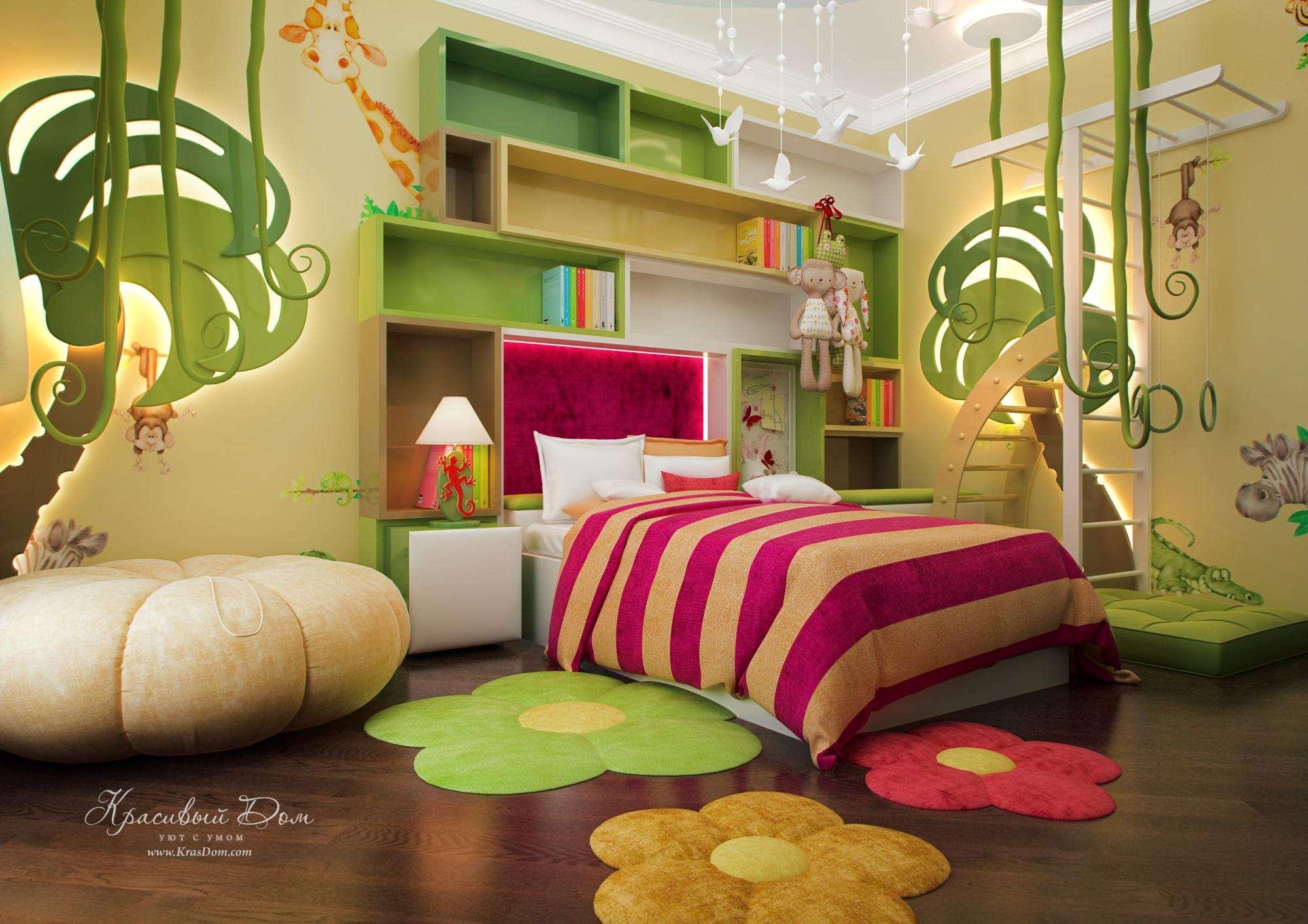 Джунгли дизайн детской комнаты для