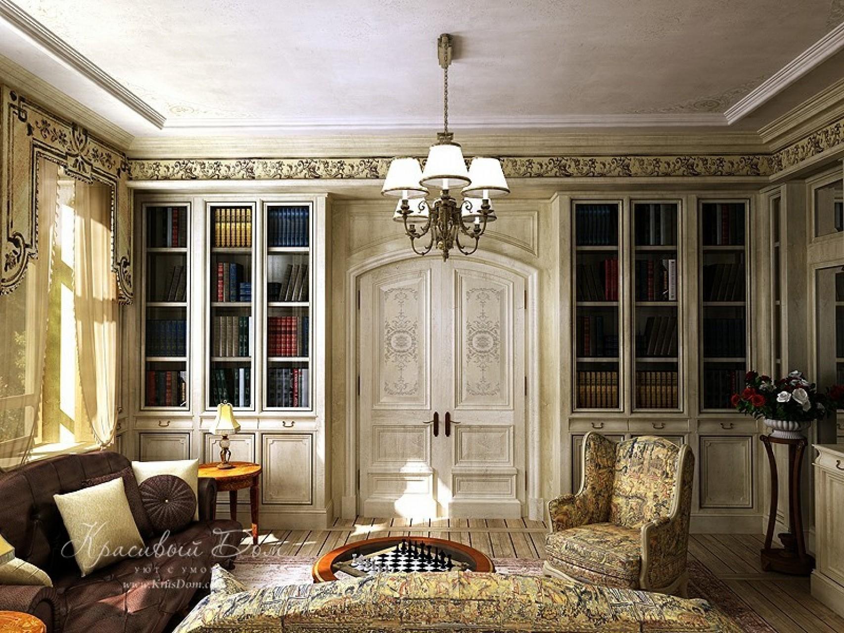 Интерьер гостиной в классическом стиле в малогабаритной квар.