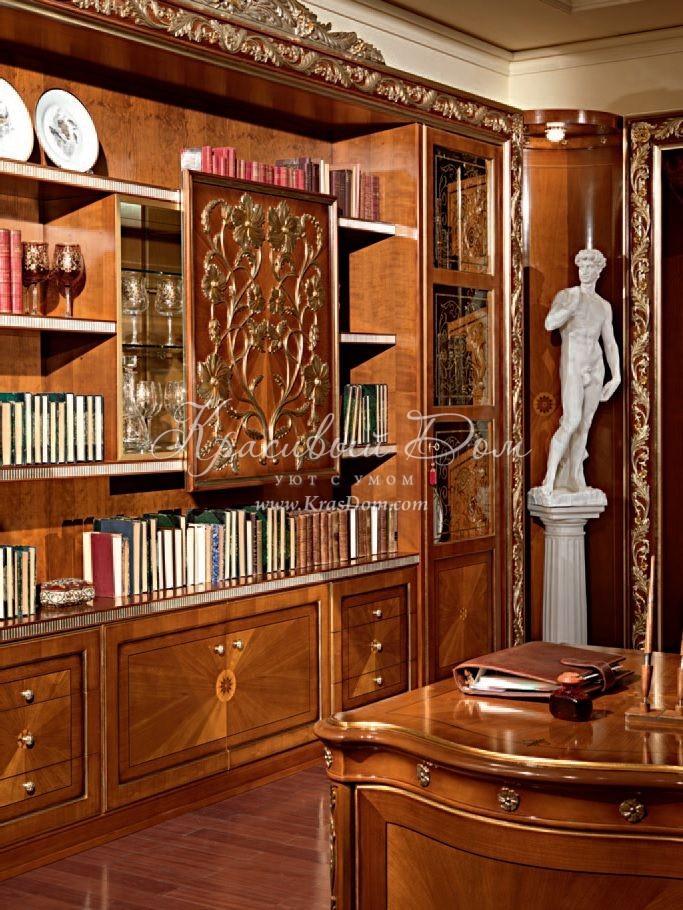 Шкаф книжный - mbst/070. угловой книжный шкаф с чередованием.