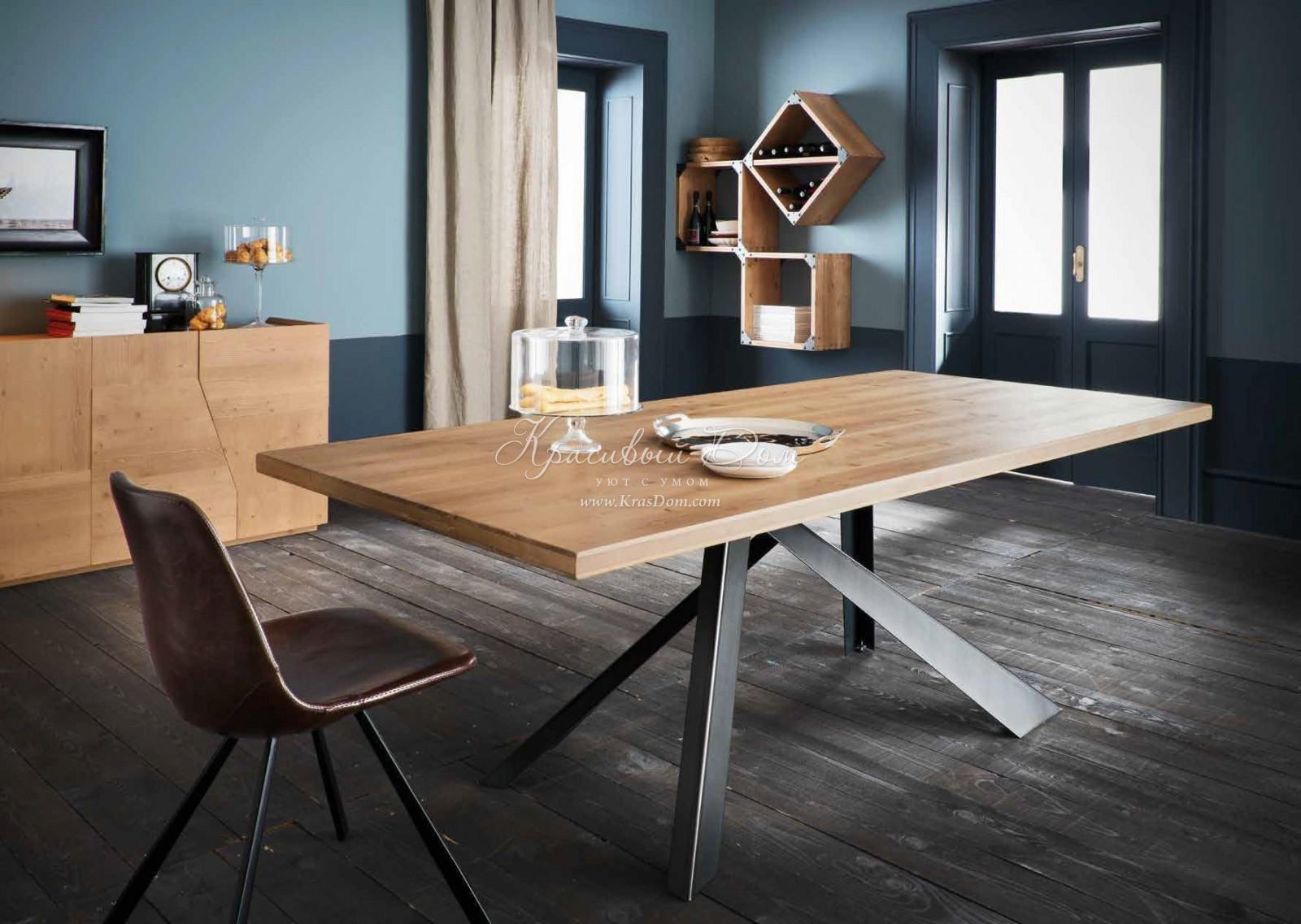 стол обеденный Alta007 обеденный стол с деревянной