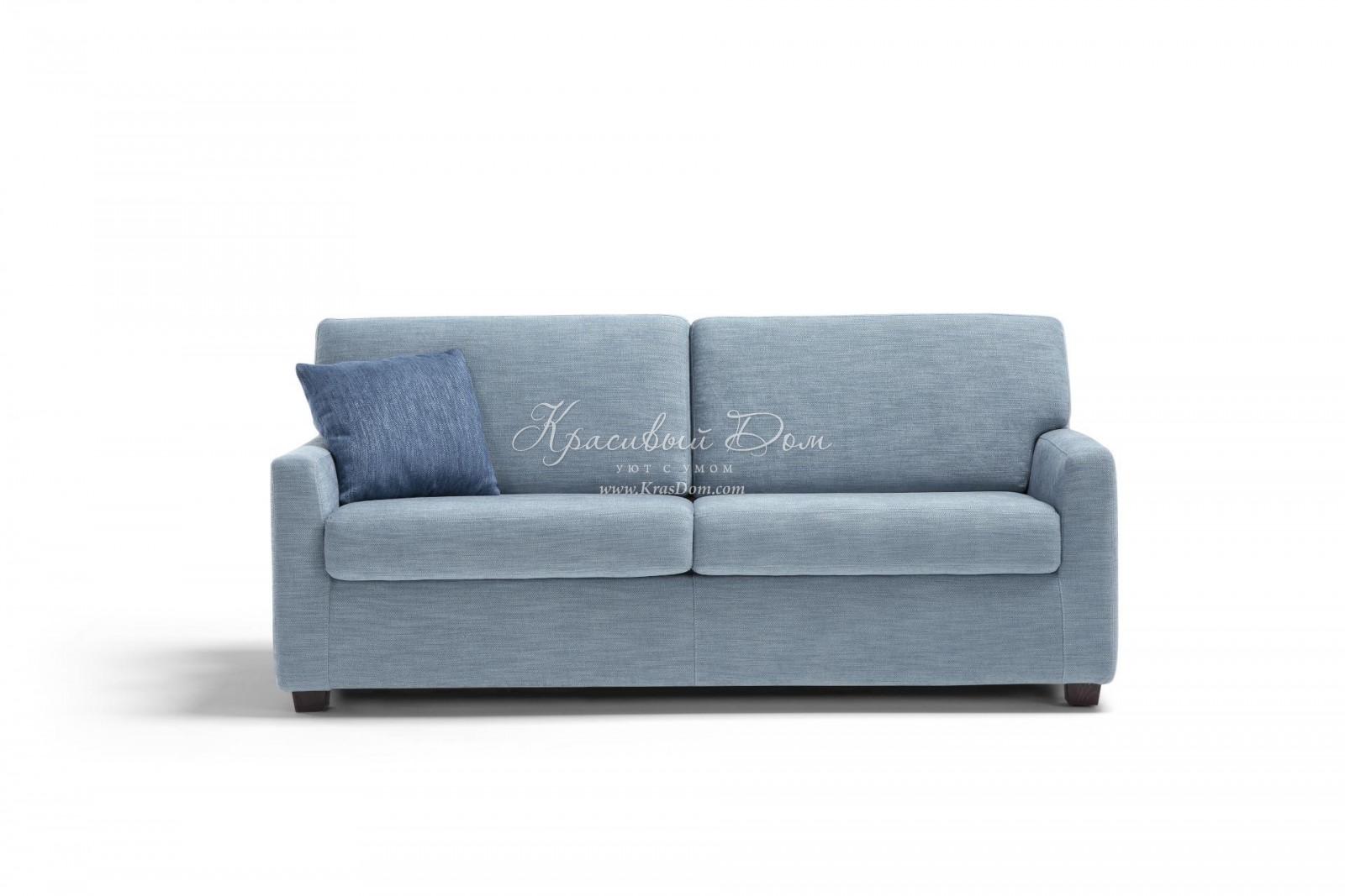 диван кровать Dns29 компактный раскладной диван в серо голубой
