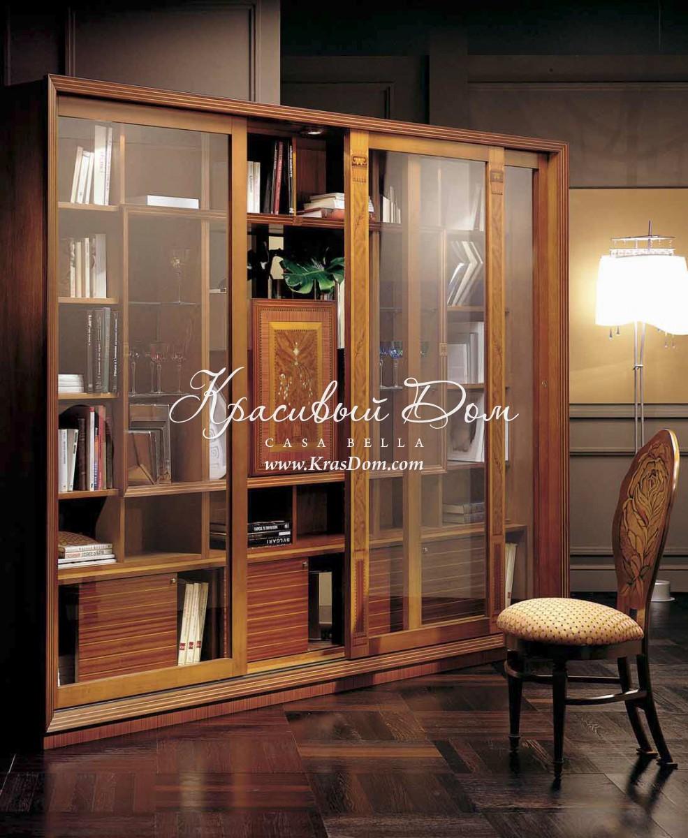 Шкаф - mcrl/9. книжный шкаф - купе со стеклянными дверцами о.