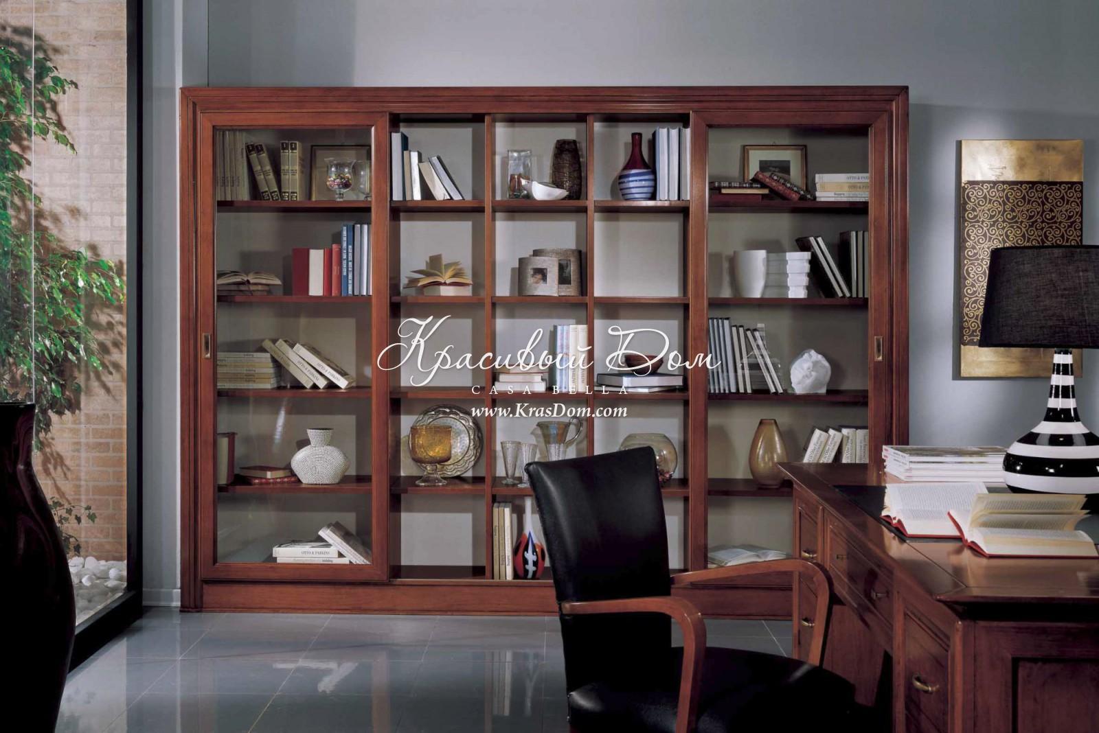 Книжный шкаф s3146 (кабинеты arte casa) итальянская мебель н.