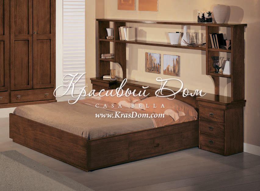 кровать Mmego0539 коричневая кровать с выдвижными ящиками и