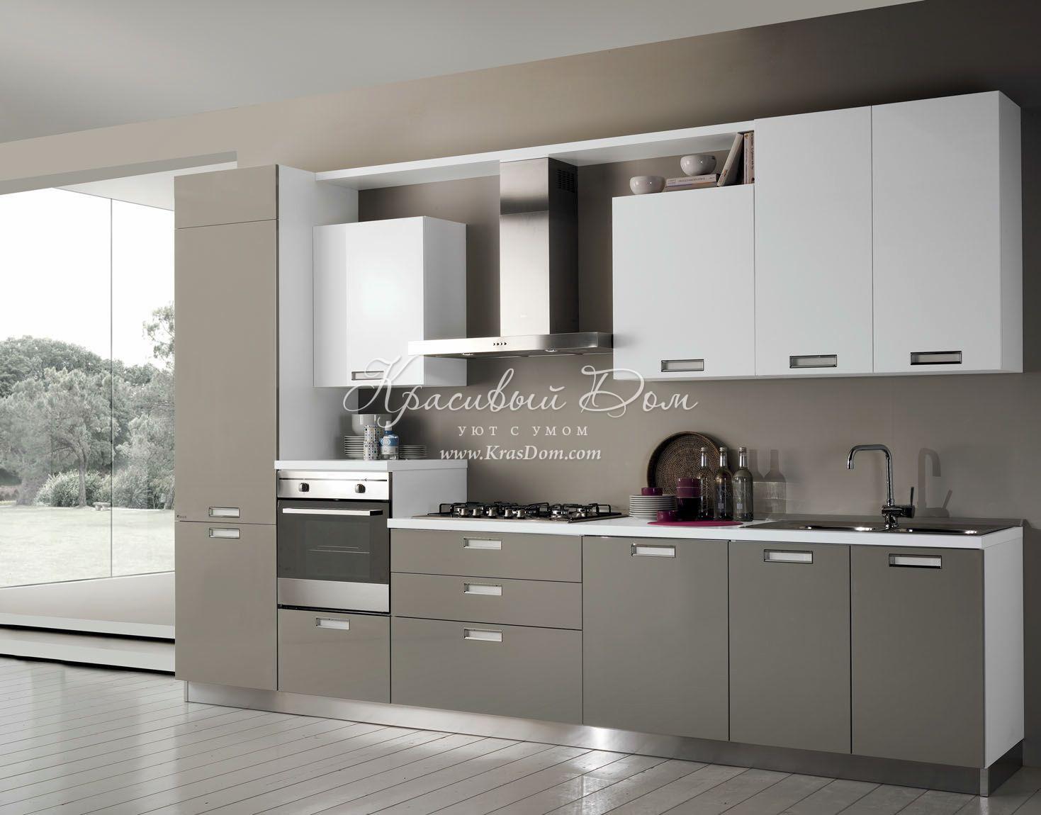 фото кухни в бело серых тонах