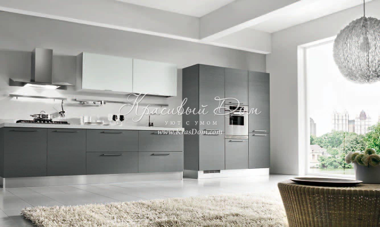 кухня в серых тонах фото