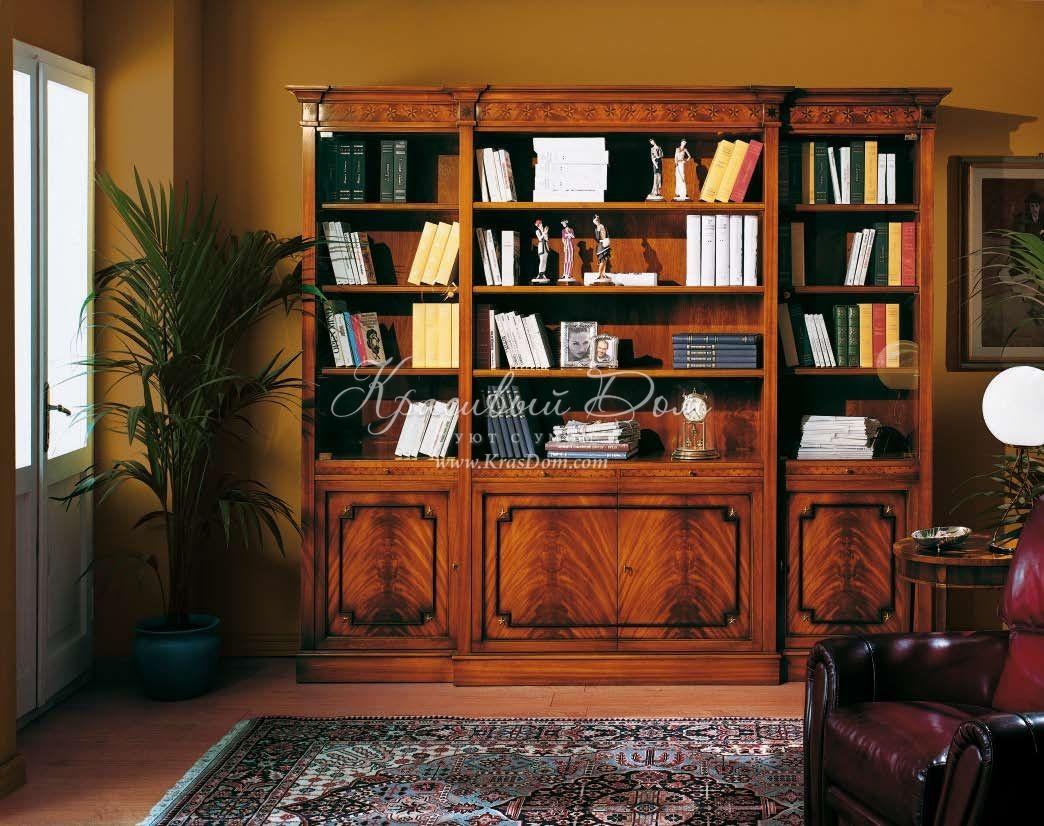 Книжный шкаф в классическом стиле с инкрустацией, armando rh.