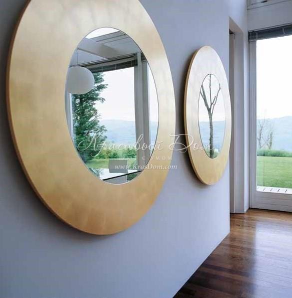 зеркало Mprd0169 зеркало в широкой круглой деревянной