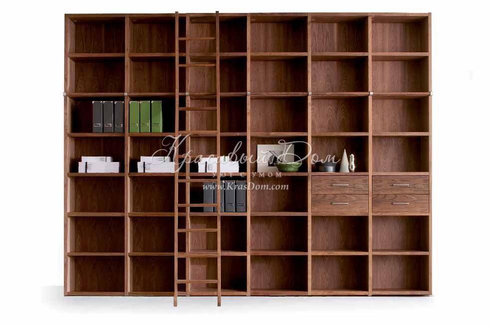 Шкаф книжный - mrva/0282. книжный шкаф с приставной лестнице.