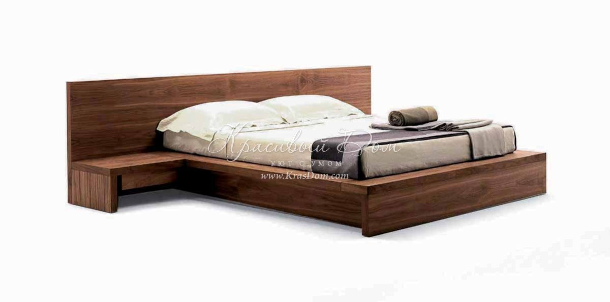 кровать Mrva0247 кровать с широким изголовьем со встроенными