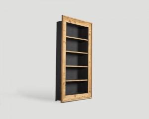 Шкаф книжный - dbn/144. шкаф под старину с 4-мя открытыми по.